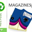 Stock Photo: Please recycle magazines