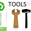 Please recycle tools - Stock Photo