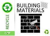 Please recycle building materials — Stock Photo