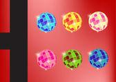 красочные дискотечный шар — Стоковое фото