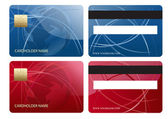 Abstract business chip credit card — Stock Photo