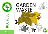 Please recycle garden waste — Stock Photo