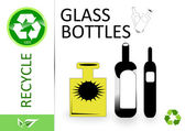 Please recycle glass bottles — Stock Photo