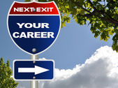 Your career road sign — Stock Photo