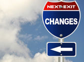 Changes road sign — Stock Photo