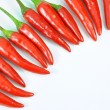 Fresh red pepper pattern — Stock Photo