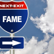 Fame road sign — Stock Photo