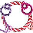 Abstract xmas wreath — Stock Photo