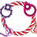 Abstract xmas wreath — Stock Photo #5196131