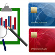Compare credit cards expense — Stock Photo