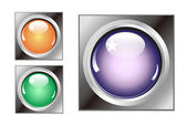 Colorful button for all website — Stock Photo