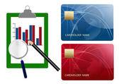 Creditcards kosten vergelijken — Stockfoto