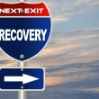 Recovery road sign - Stock Photo