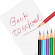 Royalty-Free Stock Photo: Back to school poster