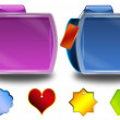 Abstract colorful folders and tags — Stock Photo