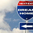 Dream home road sign - Stockfoto