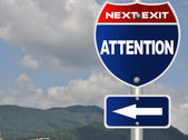 Attention road sign — Stock Photo