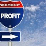 Profit road sign — Stock Photo