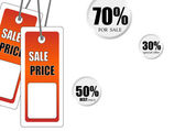 Abstract sale tags — Stock Photo