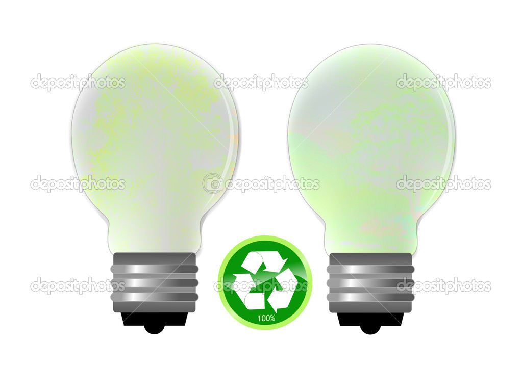 Please recycle bulbs poster — Stock Photo #5322809
