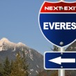 Everest road sign - Stock Photo