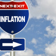 Inflation road sign — Stock Photo
