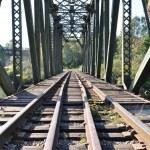 Close-up railway bridge — Stock Photo