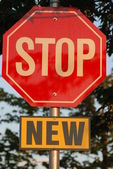 Isolated new stop sign — Stock Photo