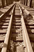 Close-up railway — Stockfoto