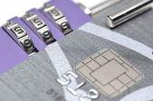 Astratto sbloccare la carta di credito — Foto Stock
