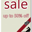 Fifty percent off sale poster — 图库照片