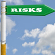 Stock Photo: Risks cigarette road sign