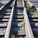 Close-up railway — Stock Photo