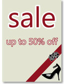 Fifty percent off sale poster — Stock Photo