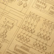 Old schematic diagram. — Stock Photo