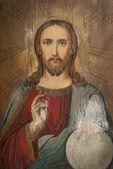 Icon of Jesus Christ with — Foto de Stock