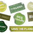 Eco-Friendly Labels - Stock Vector