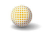 Orange Spotted Ball — Stock Vector