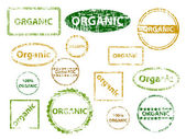 Organic Stamps — Stock Vector