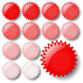 Light Red Star Icons — Stock Vector