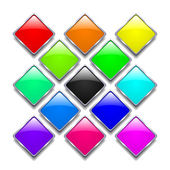 Set of shiny badges — Stock Vector