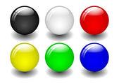 Coloured Balls — Stock Vector