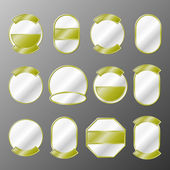Set of 12 gold badges — Stock Vector