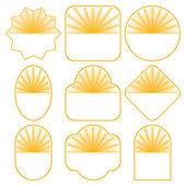 Set of 9 badge designs — Stock Vector
