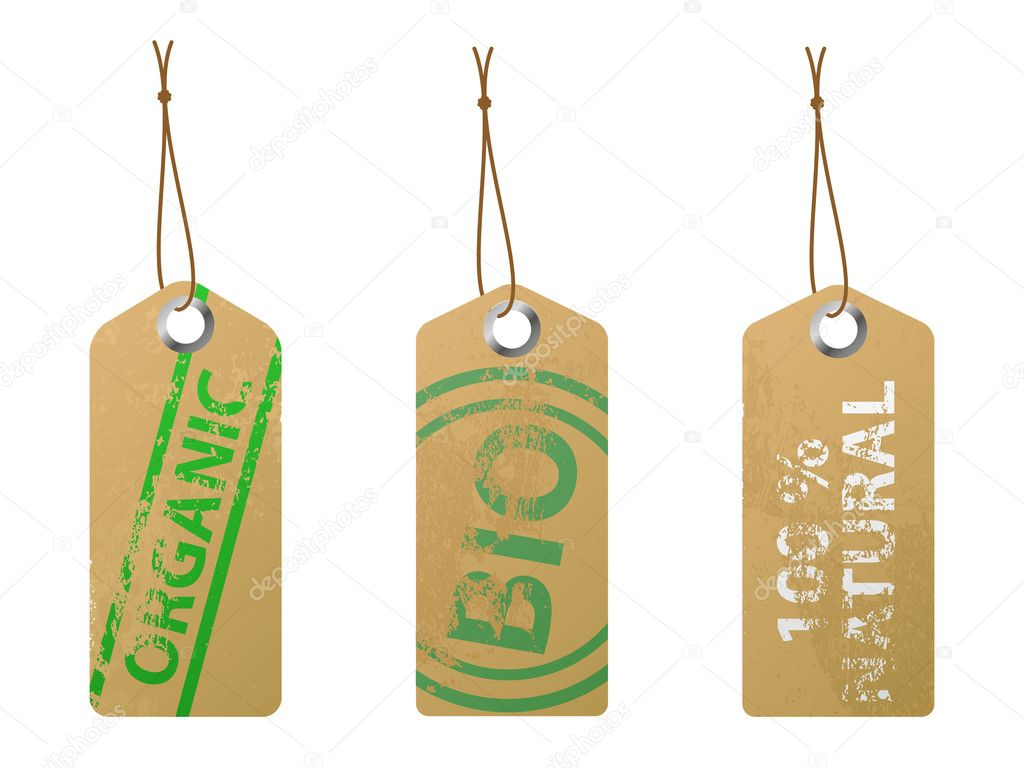 Set of 3 natural labels. Available in jpeg and epss8 formats.  Stock Vector #4642089