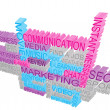 Stock Photo: 3d marketing concept