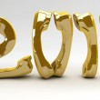Golden New Year for the telco business — Stock Photo