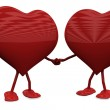 Two Hearts in Love — Stock Photo