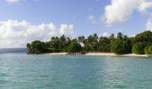 Divoká pláž v ostrov v Karibiku — Stock fotografie