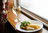 Light mediterranean lunch — Stock Photo